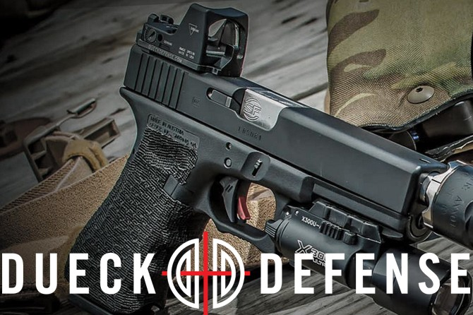 Recoil gun lifestyle Web site features Dueck Defense Red Dot Back Up Sight Base