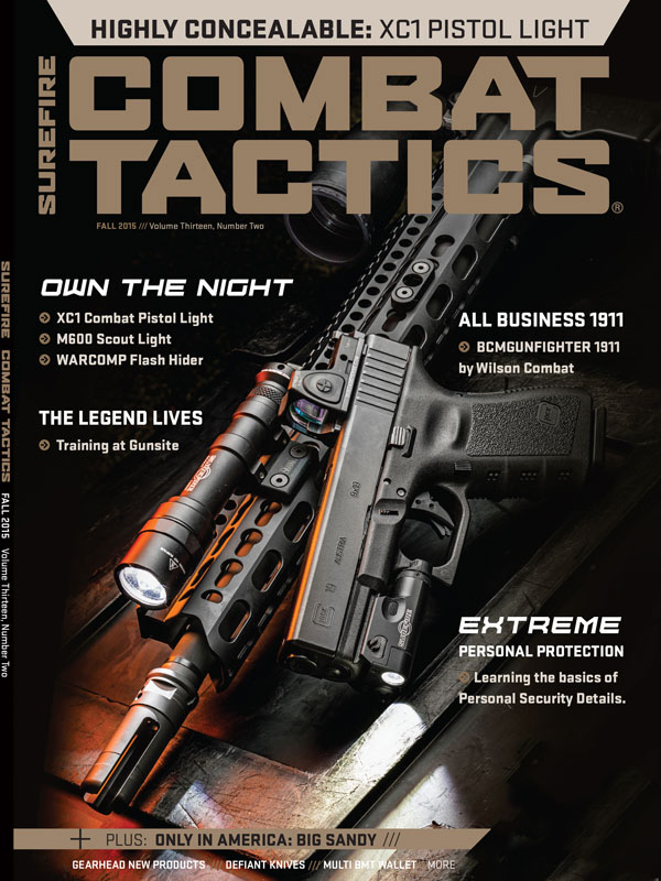 Combat Tactics Fall 2015 Volume Thirteen Number Two Cover Features Dueck Defence Inc Rear Back Up sight Base RBU